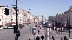 St. Petersburg, Nevsky Prospect, Guest House Stock Footage