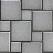 Concrete Gray Figured Pavement of Large and Small Squares Stock Illustration