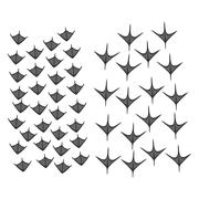 Simple shapes of duck and goose footprints (eps) - stock illustration