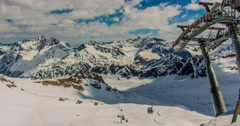Kaunertal Gondola Motionlapse 4k Stock Footage