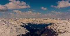 Italian Mountain View Timelapse 4k Stock Footage