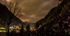 Cloudy Night Mountains Motionlapse 4k Stock Footage