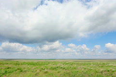 4K. Movement of clouds in the steppe, the Rostov region, Russia, (Time Lapse)  Stock Footage