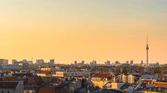 Berlin cityscape day to night time lapse 4k Stock Footage