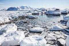 Arctic landscape - Spitsbergen, Svalbard Stock Photos