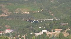 CRIMEA. AUGUST 2009: Europe's first rotary bridge built after World War II Stock Footage