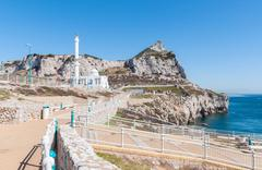 Mosque at Europa Point on Gibraltar - stock photo