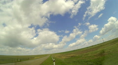 4K. Road in the steppes of Kalmykia and Russia, (Time Lapse) Ultra HD, 3840x2160 Stock Footage
