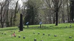 Fredericksburg Virginia Battlefield cemetery cannon memorial 4K Stock Footage