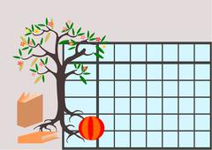 Children school timetable Stock Illustration