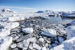 Arctic landscape - Spitsbergen, Svalbard - stock photo