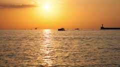 Boats floating on the sea Stock Footage
