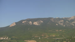 Stock Video Footage of CRIMEA. AUGUST 2009: Crimean mountains. View from the coast