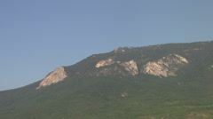 CRIMEA. AUGUST 2009: Crimean mountains. View from the coast Stock Footage