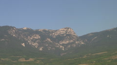 CRIMEA. AUGUST 2009: Crimean mountains. View from the coast - stock footage