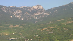 CRIMEA. AUGUST 2009: Crimean mountains and vineyards Stock Footage
