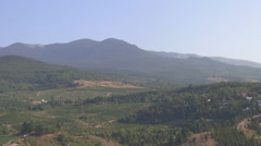 CRIMEA. AUGUST 2009: Crimean mountains and vineyards - stock footage