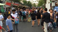 Biggest market in Asia -  Bangkok Jatujak marketplace Stock Footage