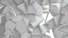 White blocks. Three dimensional background with white blocks Stock Footage