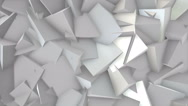 Stock Video Footage of White blocks. Three dimensional background with white blocks