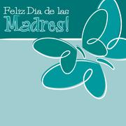 Hand Drawn Spanish Happy Mother's Day card in vector format. - stock illustration