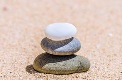 Stones in the sand on the beach Stock Photos
