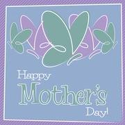 Hand Drawn Happy Mother's Day card in vector format. Stock Illustration