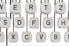 letters on a typewriter - stock photo