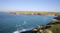 Cornish Cove Porth Joke by Crantock Cornwall England UK Stock Footage