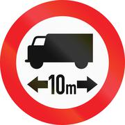 Lorry Length Limit in Austria - stock illustration