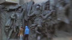 The figures of people during the second world war (4) Stock Footage