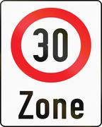 30-Zone in Austria Stock Illustration