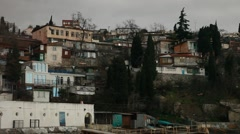 CRIMEA. APRIL 2011: Old buildings of the town Stock Footage