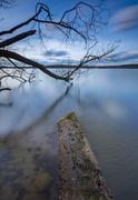 Long exposure photo of lake shore Stock Photos