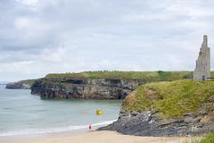 ballybunion sea and cliff rescue service launcher - stock photo