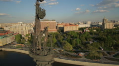 Monument to Peter the Great in Moscow - stock footage