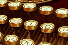 Typewriter keyboard Stock Photos