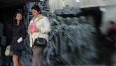 The figures of people during the second world war Stock Footage