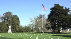 Fredericksburg Virginia Battlefield cemetery unknown soldiers 4K Stock Footage