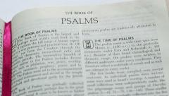 The Book Of Psalms - stock footage