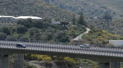 Road or highway traffic Andalusian Mediterranean landscape Stock Footage