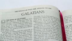 The Epistle Of Galatians Stock Footage