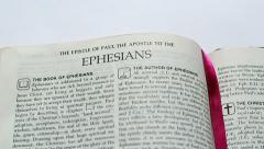 The Epistle Of Ephesians - stock footage