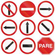 Arrow Signs In Argentina Stock Illustration