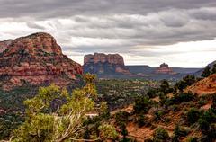 Red Rock Mountains Sedona, Arizona Stock Photos