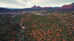 Flying over Verde Valley Stock Footage