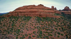 Red Rock buttes of Schnebly Hill Stock Footage