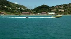 Grenada island Caribbean Sea 019 Grand Anse Bay Beach from seaside Stock Footage