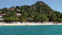Grenada island Caribbean Sea 020 dreamlike beach seen from turquoise water Stock Footage
