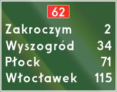 Distance Sign In Poland - stock illustration